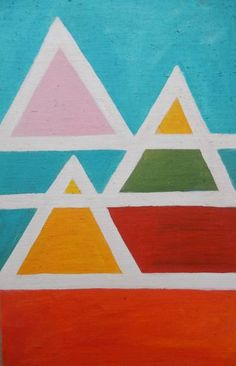 Pyramid III Acrylic Material, Is 11, Acrylic Painting Canvas, Abstract Expressionism, Saatchi Art, Original Paintings, Kids Rugs, Inspiration, Biblical Inspiration