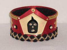 Elegua Crown Corona Eleggua Black and Red Crown by OshaDesigns