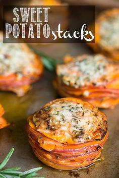 Sweet Potato Stacks make a fantastic vegan fall side dish because the thinly sliced sweet potatoes coated in coconut oil cook up in just minutes!