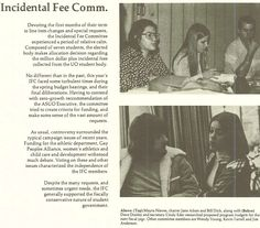 IFC (Incidental Fee Commission) 1974-75. From the 1975 Oregana (University of Oregon yearbook). www.CampusAttic.com
