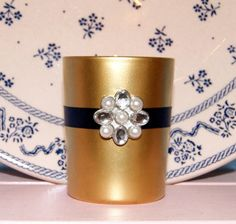 Read More About Navy Blue and Gold Wedding Decor / Wedding Votive Candle Holder / Fall Wedding / Winter Wedding / English Garden Wedding / Rhinestone Brooch Destination Wedding Decor, Decor Wedding, Wedding Planning, Trendy Wedding, Fall Wedding, Garden Wedding, Wedding Ceremony, Votive Candle Holders, Votive Candles