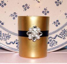 Navy Blue and Gold Wedding Decor / Wedding by CarolesWeddingWhimsy