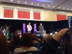 #chicon Jared and Jensen Gold panel this morning. Tamoh too big and scary to prank.