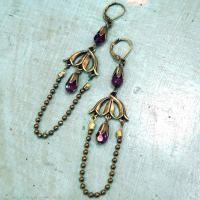 Vintage Jewelry Making Ideas-Handmade Chandelier Earrings