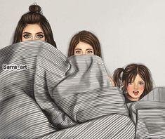 Me & my girls on movie nights Girly M, Mother Daughter Quotes, Mother Art, Mom Daughter, Daughters, Best Friend Drawings, Girly Drawings, Sarra Art, Cute Girl Drawing