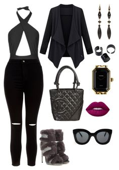 """""""✨"""" by giiovannatorres on Polyvore featuring moda, Topshop, New Look, Jimmy Choo, Chanel, Isabel Marant, Lime Crime e CÉLINE"""