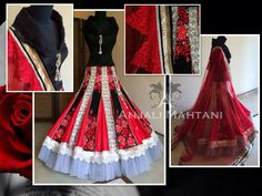 Beautiful Black and Red Bollywood Lehenga Choli Online - Indian Dresses Desi Wedding Dresses, Indian Wedding Outfits, Indian Outfits, Indian Clothes, Bollywood Dress, Bollywood Fashion, Lehenga Choli Online, Net Lehenga, Indian Attire