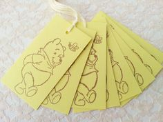 Winnie the Pooh and Bee Yellow Tags Baby Shower by LazyDayCottage