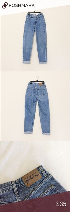 vtg mom jeans normal medium wash vtg mom jeans. fits a size 00-1 lmk if you need measurements! Still in absolute perfect condition and no flaws! Brandy Melville Jeans