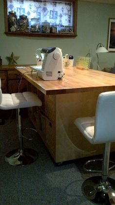 the ultimate quilting table materials 2 ikea expedit bookcases 1 ikea numerar countertop 4 heavy duty casters and 2