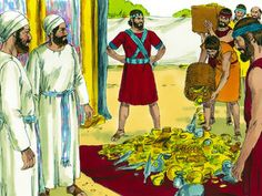 FreeBibleimages :: Achan disobeys and brings defeat :: Achan disobeys and the army are defeated at Ai (Joshua Free Bible Images, Bible Pictures, Bible Lessons For Kids, Bible For Kids, Animated Bible, Book Of Joshua, Bible Crafts, Old Testament, Kids Church