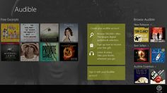 Audible, a perfect App for listening your collection of audio books while on the move. The App is available for free and once you launch the App, you are Tina Fey, Windows 8, Mobile Ui, Free Gifts, Audio Books, Create Yourself, Product Launch, Apps, Digital