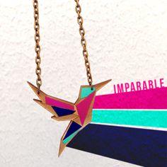 Collar pintado a mano varios colores / Colección OrigamiMarca: SONVisita la tienda de SONTécnica- Corteláser- MDFDimensiones- 3 mm de grosor- 6 cm de ancho aprox.
