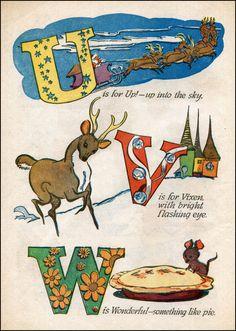 Walt Kelly Christmas Alphabet U-W