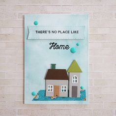 card house home hills plants clouds sky scene MFT Home sweet Home Die-namics, MFT No Place Like Home stamp set Card Kit Die-namics - Torico #mftstamps Home is the only place that gives me happiness