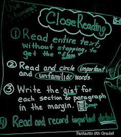 Fantastic Fifth Grade!: Common Core Reading ANCHOR CHARTS!!