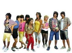La ropa de jóvenes