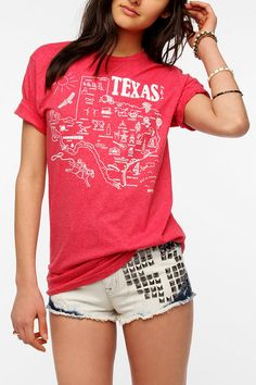 Maptote Texas State Map Tee