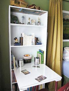 Diy Desk Bookshelf Organization Ideas 47 Ideas For 2019 Desk Bookshelf Combo, Bookcase Desk, Bookshelf Organization, Bookshelves, Walnut Bookcase, Billy Bookcases, Organization Ideas, Furniture Makeover, Diy Furniture