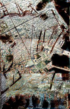 gabriele pierluisi, città analoghe. ipercittà mediterranea 2: bari+ravenna+trieste+bistro e pittura digitale. paris 2011
