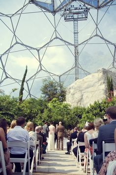 Real wedding inspiration: Venues -Mediterranean Biome at the Eden Project, Cornwall - I would LOVE to shoot a wedding here!