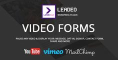Leadeo – WordPress Plugin for Video Marketing  Did you know that using video on your landing page can increases conversions by up to 80%? And on sales pages up to 46%?Leadeo can help you get more leads and more sales from people who watch video on your blog.