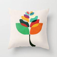 Lotus flower Throw Pillow by Budi Satria Kwan - $20.00