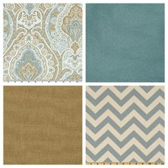 fabric ideas- paisley, chevron, blue, velvet, linen