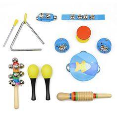 Motrent Kids Musical Instruments Set Percussion Rhythm Ba...
