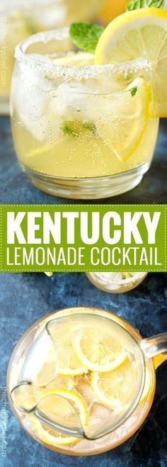 Kentucky Lemonade Cocktail Sweet, tart, and refreshing with a bourbon kick, this Kentucky lemonade cocktail is everything you could want in a drink. Sip your way into warmer weather with this easy to make cocktail. Party Drinks, Fun Drinks, Yummy Drinks, Beverages, Lemonade Cocktail, Cocktail Drinks, Cocktail Recipes, Bourbon Drinks, Drink Recipes