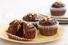 Cupcakes de chocolate y mantequilla de maní receta