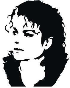 Pochoir portrait de Mickael Jackson, en plastique très résistant réutilisable à volonté. Fabrication française de qualité. Michael Jackson Dibujo, Art Michael Jackson, Michael Jackson Silhouette, Portraits Pop Art, Portrait Sketches, Pencil Art Drawings, Art Drawings Sketches, Jackson's Art, Celebrity Drawings