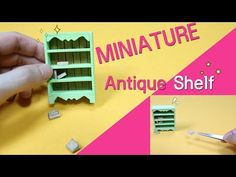 DIY Miniature Antique Shelf - How to Make Doll Shelf | dollhouse - YouTube