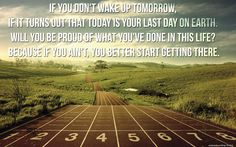 Start getting there.