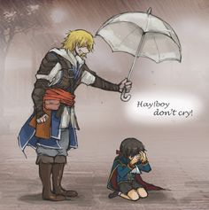 BF] Edward and Kid Haytham by on DeviantArt Assassins Creed Funny, Assassins Creed Odyssey, Asesins Creed, Cry Of Fear, Connor Kenway, Boys Don't Cry, Templer, Kawaii Anime Girl, Rpg