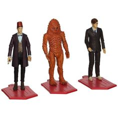 This is a Doctor Who Day Of The Doctor Action Figures Set. It's produced by Underground Toys. It features the Eleventh Doctor in Fez, the Tenth in glasses and Z