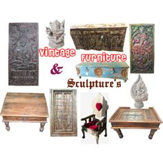 """Vintage Indian Home Decor"" by moguldesigns on Polyvore"