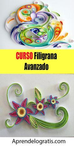 Aprende gratis Filigrana avanzado !  #filigrana #quilling #cursosgratis #descargarcursos #manualidades #crafts Quilling Patterns, Origami Paper, Amelia, Decoupage, Art Ideas, Paper Crafts, Ornaments, Kid Art, Vestidos