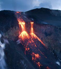 Volcan Eyjafjallajökull :  Photo de Kristjan Freyr rastarson