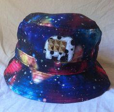 Multicolored Galaxy Bucket Hat by ALIENSofBROOKLYN on Etsy, $40.00
