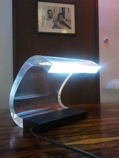 Beautiful and unique lamp of Joe Colombo, the Acrilica