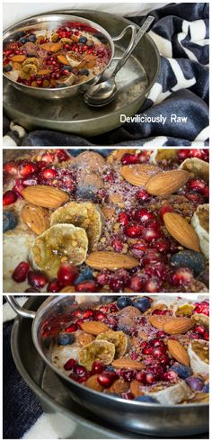 "Superfood stuffed Overnight Oats with ""fried"" Banana kind of day. It's a perfect healthy and nourishing breakfast for everyone. #raw #vegan #healthychoices #deliciouslyraw"