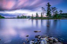 Canada-Killarney-Killarney Park-Dusk at OSA-Touit Canada, Tree Silhouette, Urban Photography, Dusk, Ontario, Scenery, Colours, In This Moment, Mountains
