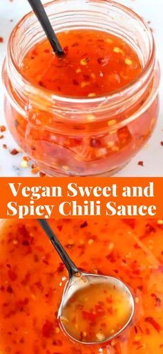 vegan sweet and spicy chili sauce recipe for dipping everything! vegan sweet and spicy chili sauce recipe for dipping everything! Spicy Chili Sauce Recipe, Thai Sweet Chili Sauce, Sweet And Spicy Sauce, Spicy Recipes, Cooking Recipes, Vegetarian Sauce Recipes, Sweet And Spicy Chicken, Whole Foods, Whole Food Recipes