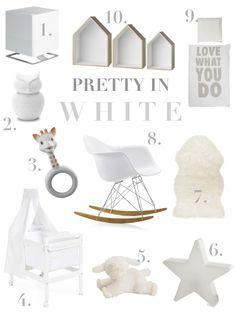 White Nursery, Kidsroom, White, All White, MOM4MOM, Inspiration, Moodbaord