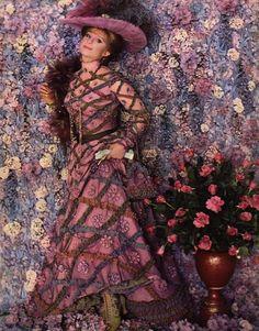 Barbra Streisand in 'Hello Dolly' costumes designed by Irene Sharaff, 1969.