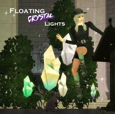 The Sims 4 sweettacoplumbob Floating Crystal Lights Sims 4 Nails, Sims Building, Sims 4 Dresses, Sims 4 Mm Cc, Sims 4 Cc Finds, Sims Mods, The Sims4, Sims 4 Custom Content, Crystal Lights