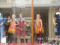 Tijdens levende etalages in Deventer 2013