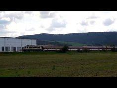 EC124 Bečva s lokomotivou 150 205 frčí údolím Vsetínské Bečvy 25.8.2014 - YouTube Youtube, Youtube Movies
