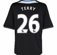 Chelsea Away Shirt Adidas 2011-12 Chelsea Away Football Shirt (Terry 26) Buy the brand new Chelsea away shirt for the 2011/12 Premiership season complete with John Terry shirt printing.The new Chelsea football shirt is manufactured by Adidas and is available in kids sizes  http://www.comparestoreprices.co.uk/football-shirts/chelsea-away-shirt-adidas-2011-12-chelsea-away-football-shirt-terry-26-.asp
